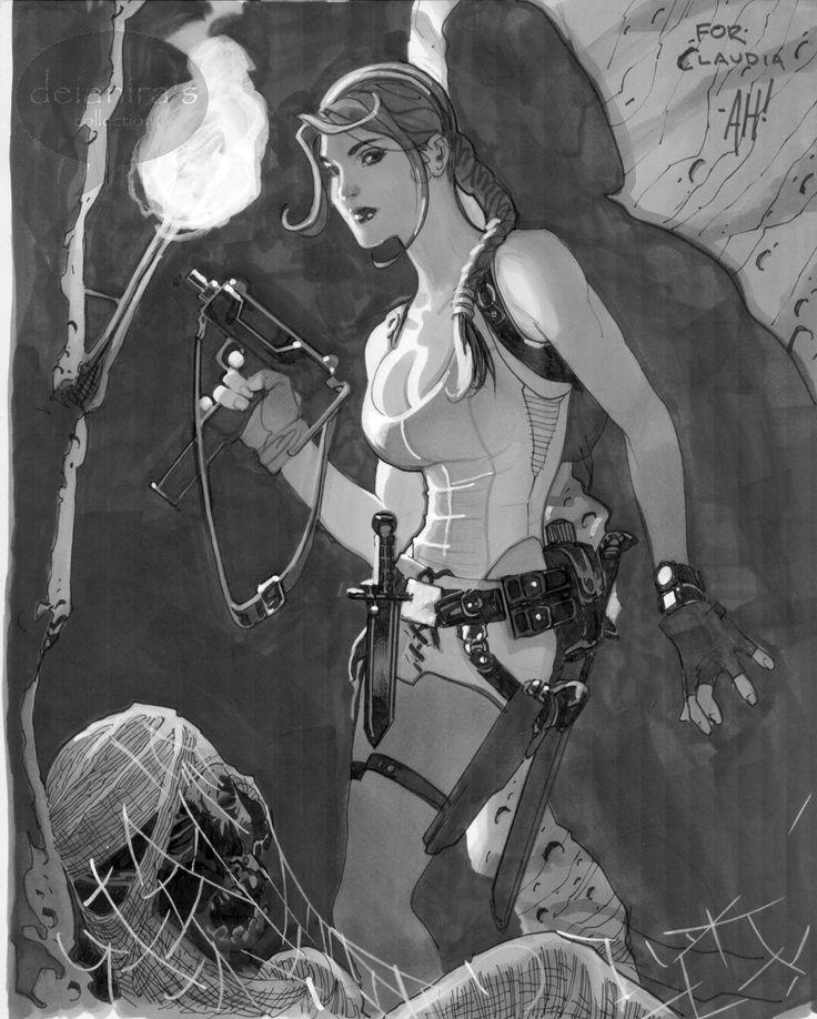 Lara Croft by Adam Hughes Comic Art