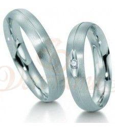 Βέρες γάμου από πλατίνα με διαμάντι Breuning 9009-9010
