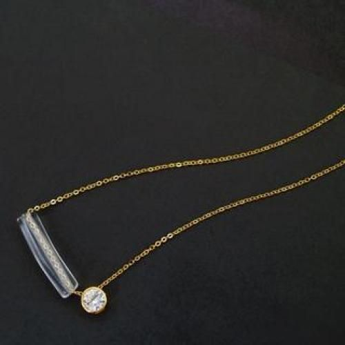 Crystal Pendant Long Necklace
