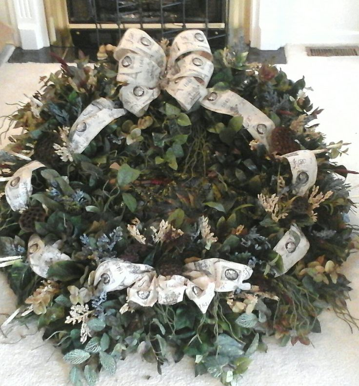 XLARGE Grapevine Wreath, 4ft Wall Wreath, Mantel Wreath, Large Door Wreath,  Large, Greenery Wreath, French Berry Wreath Shipping Included By Giftu2026