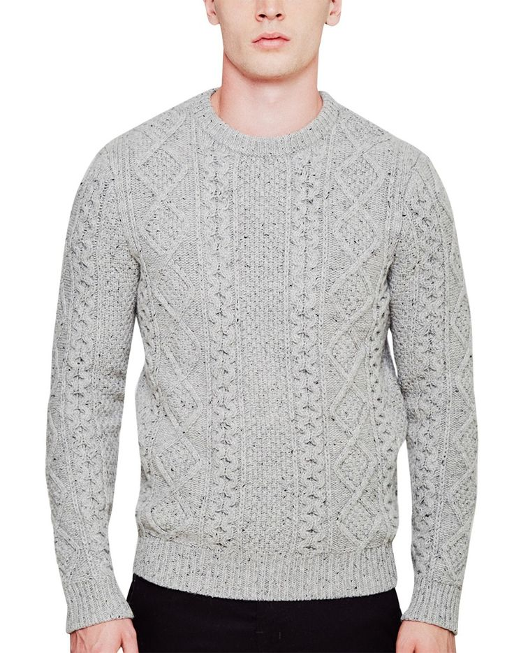 Levi's Fisherman Cable Crew Jumper Grey - BLACK FRIDAY SALE NOW ON!!!