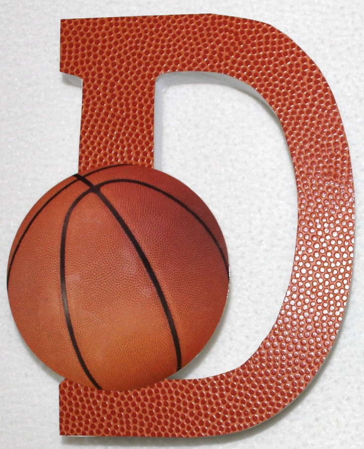 Basketball Theme Wooden Name Letters Photography Prop Portraits Room/Nursery Décor. $8.00, via Etsy.