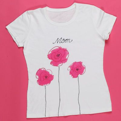 Just Rosy Pink Posies T-shirt