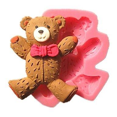 χαριτωμένο φοράει γραβάτα αρκουδάκι φόρμες κέικ φοντάν 2757034 2016 – €5.87