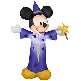 Gemmy�4-ft Lighted Mickey Mouse Halloween Inflatable. 4 feet tall. $25.  Mickey Mouse Halloween Party.