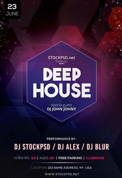 Deep House DJ Event Free PSD Flyer Template - http://freepsdflyer.com/deep-house-dj-event-free-psd-flyer-template/ Enjoy downloading the Deep House DJ Event Free PSD Flyer Template created by Stockpsd!   #Club, #Concert, #Dance, #Dj, #EDM, #Electro, #Gig, #Live, #Music, #Nightclub, #Party, #Sound