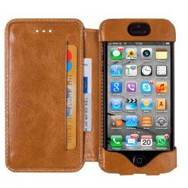 DBramante1928 leren wallet case iPhone 5(S) golden tan