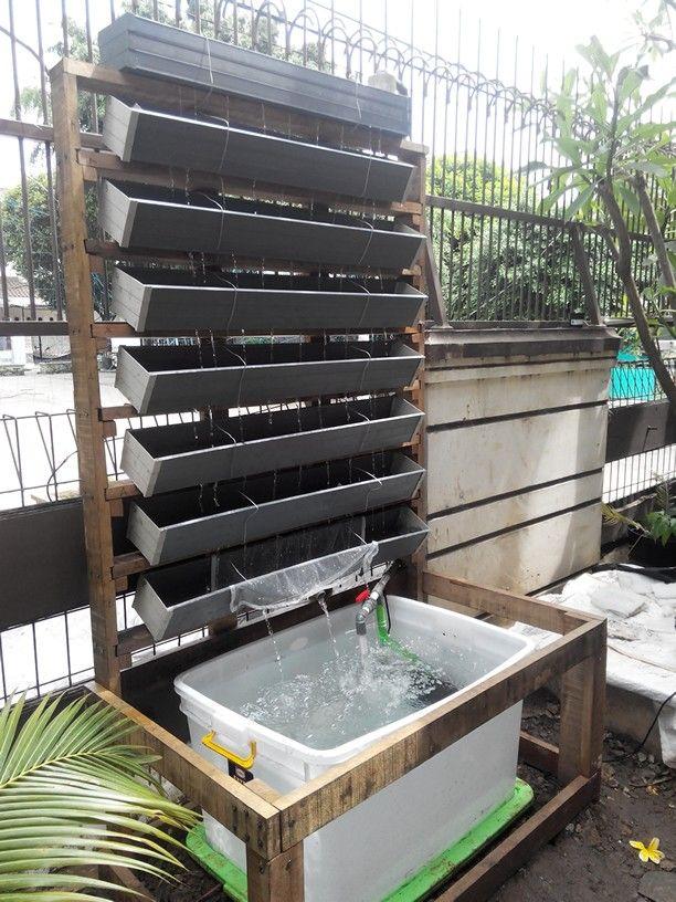 VertiGro Aquaponic Unit installed
