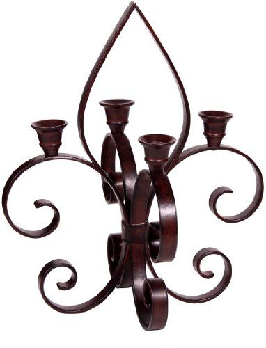 Palais Dinnerware Fleur De Lis Motif Art Bronze Metal Candle Holder (4 Branch Taper Candle Holder) * Want to know more, click on the image. #Candleholders
