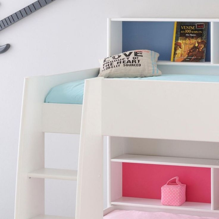 Tam White Wooden Bunk Bed With Underbed Storage Drawer