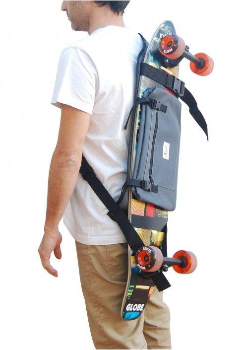 Backpack Diseño Bags De GraySkateboard Longboard vmNw8n0