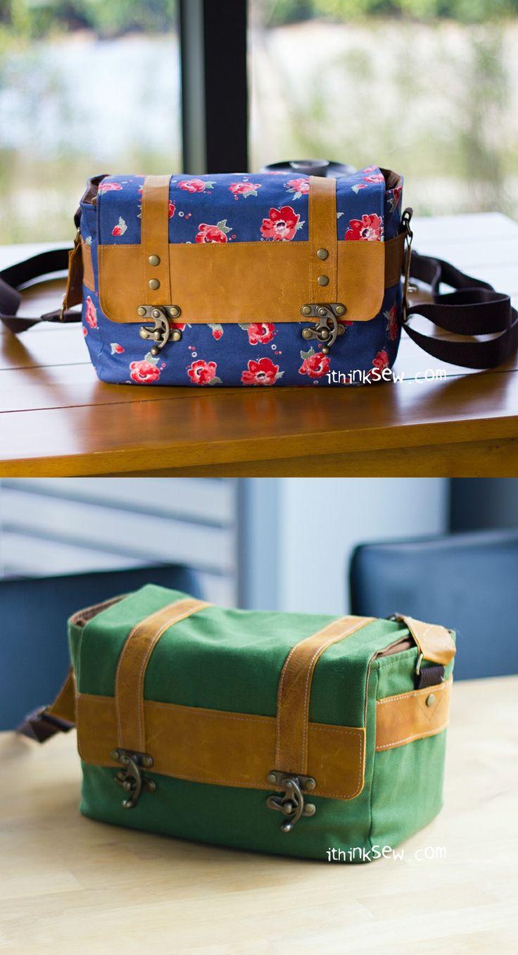 Max Vintage Camera Bag PDF Pattern - ithinksew.com