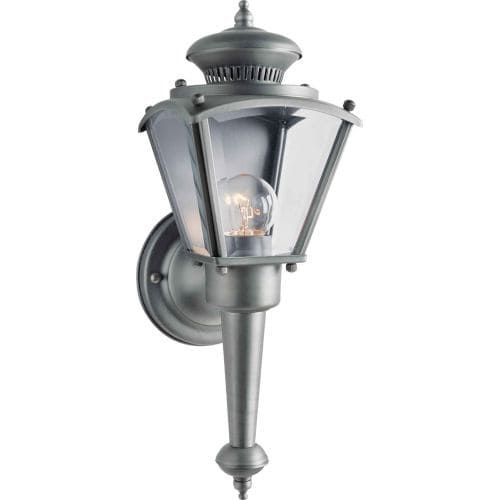 Forte Lighting 1004-01 Victorian Outdoor 4.75Wx13.5Hx5.5E Wall Sconce, Olde Nickel