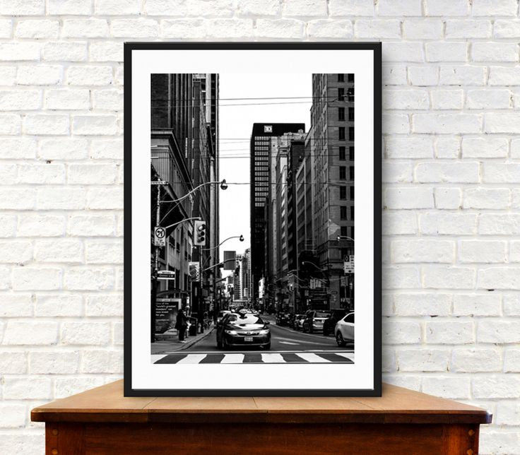 Toronto Print photography City photography Canada Wall Art B&W photography canvas print black and white Fine Art Giclee Print or Canvas by S4StarSbySiSSy on Etsy https://www.etsy.com/ca/listing/279816148/toronto-print-photography-city