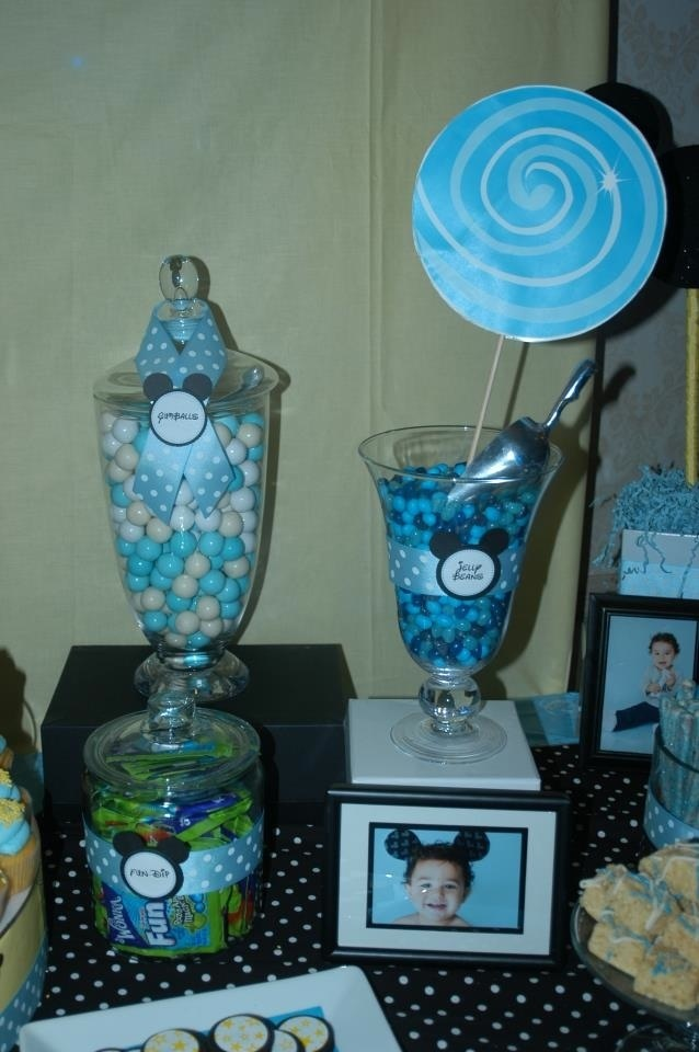 Best 25 birthday dessert tables ideas on pinterest for Baby mickey decoration ideas