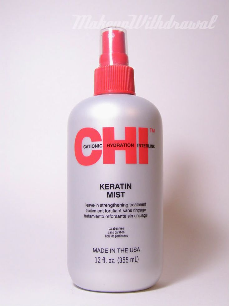 """""""One of the products under my bathroom sink that I reach for the most is my CHI Keratin Mist. It makes for a really nice leave-in conditioner, a detangler & restores porosity to hair (enabling hair to absorb)."""""""