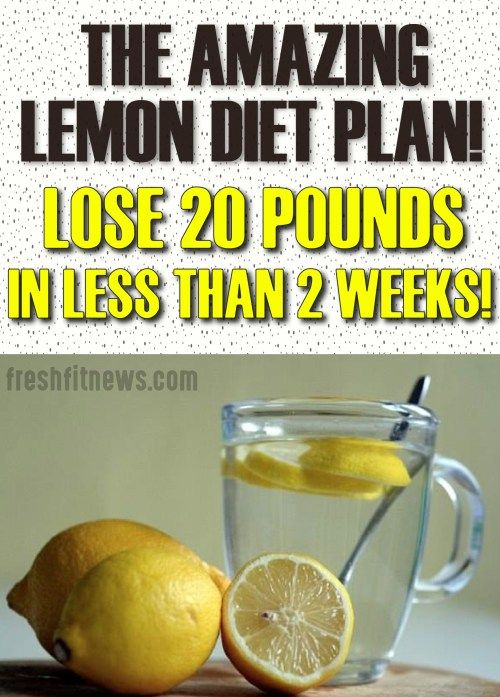 Lemon in water mix.
