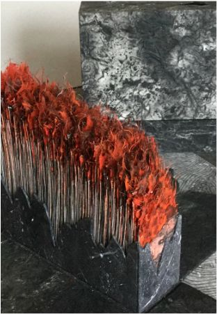 """Holuhraun, 2014-2015. """"The pages are contained within an exploding box structure where the sides collapse as the lid is removed."""""""