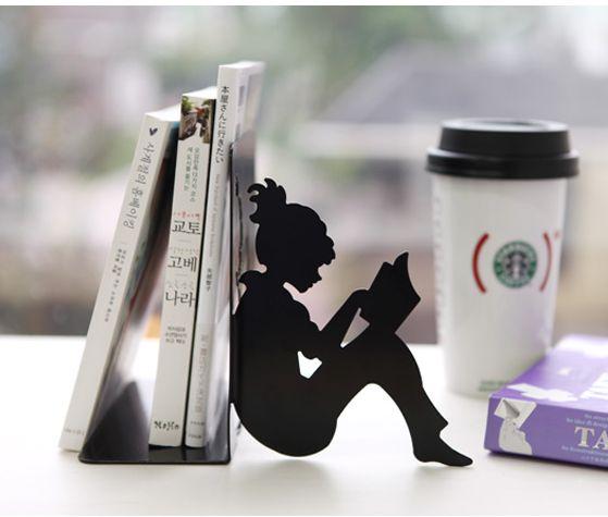 Girl Reading a Book Bookend