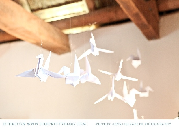 Origami paper bird - lovely DIY idea using personalised printed paper