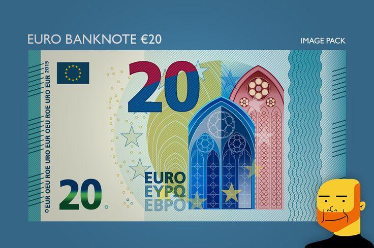 Euro Banknote €20 (Image) by Paulo Buchinho on Creative Market