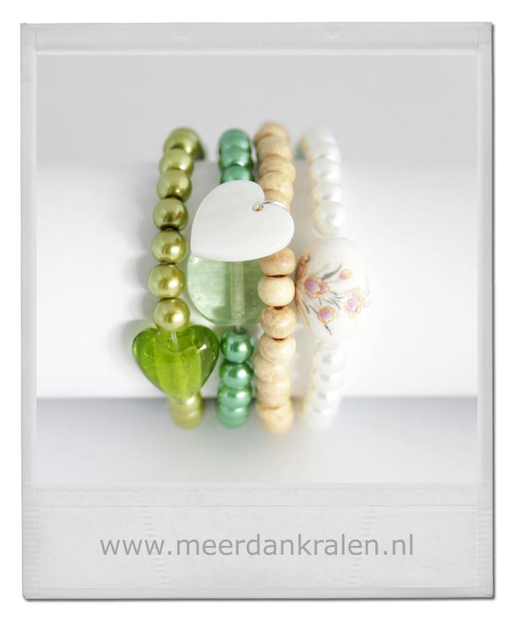 Mooie combinatie van verschillende armbandjes... #Inspiratie