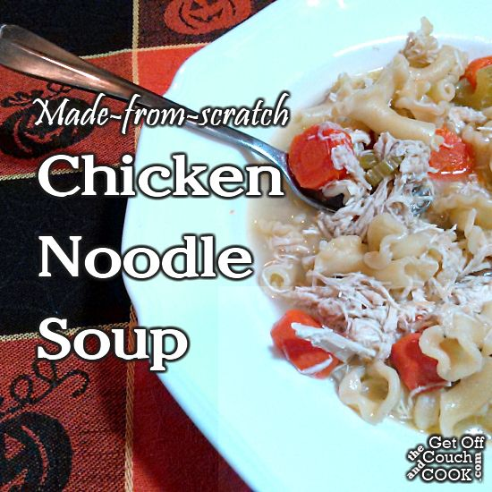 Chicken Noodle Soup (Made from scratch!) - When it comes to simple, healthy AND comforting, soup is a go-to for a lot of people.  Here, the broth is made while cooking the chicken so no worries about the high sodium you get in the canned versions.