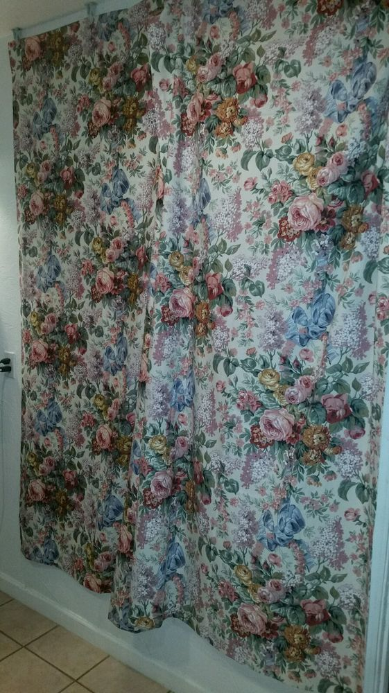 """RALPH LAUREN-""""ALLISON"""" PAIR OF LINED DRAPES CURTAINS-41"""" W BY 86"""" LONG-GORGEOUS! #RalphLauren #FrenchCountry"""