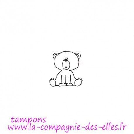 Exclusivité web !  tampon kawaii ourson - non monté