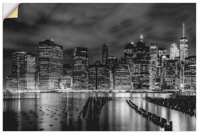 Premium Wandfolie »Melanie Viola: New York Impression bei Nacht«