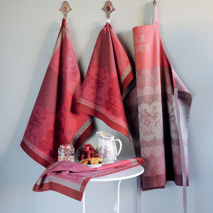 Torchon f tes et no l garnier thiebaut mod le cup of tea torchon en coton coloris - Noel a mille couleurs ...