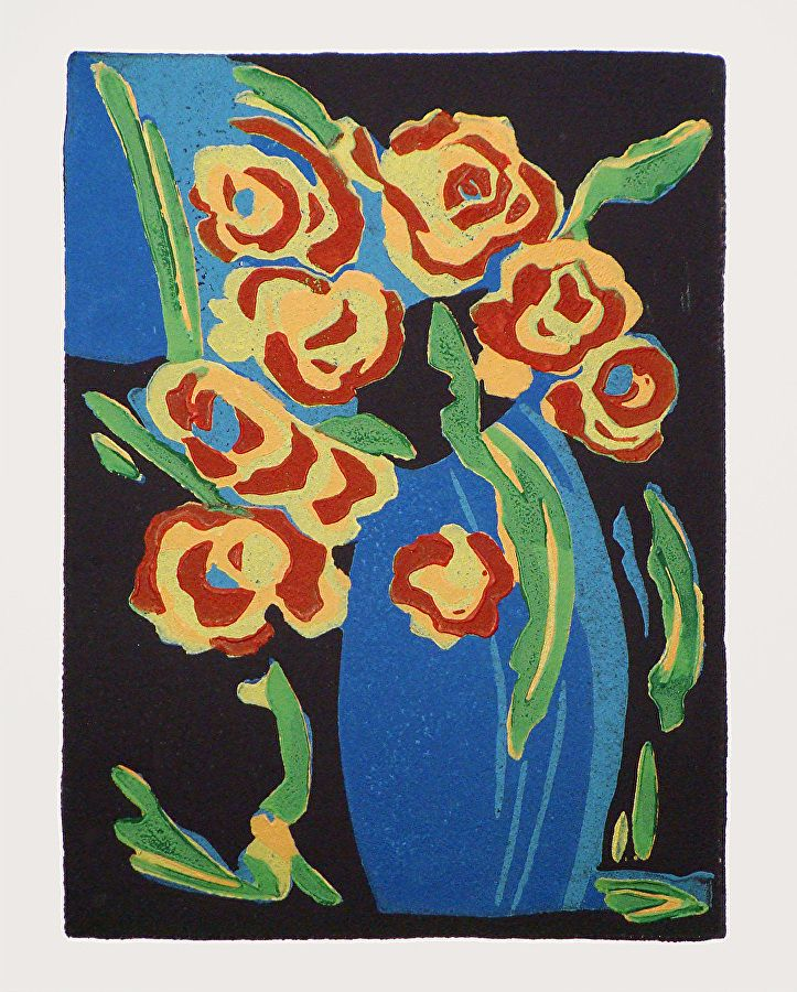 Roses Roses by ANGELA MAHER Archival Inks ~ 5.5 x 4
