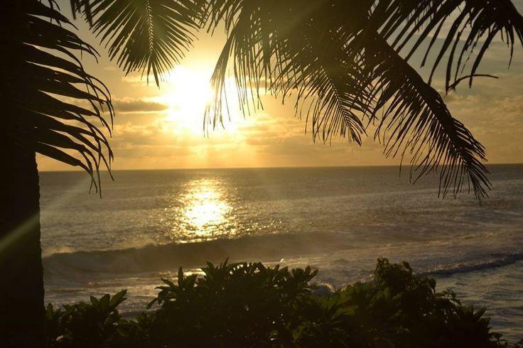 Beautiful Niue at sunset