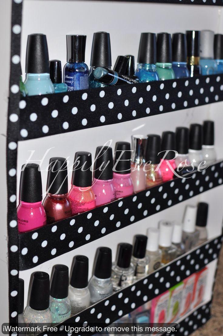 Nail Polish Storage DIY