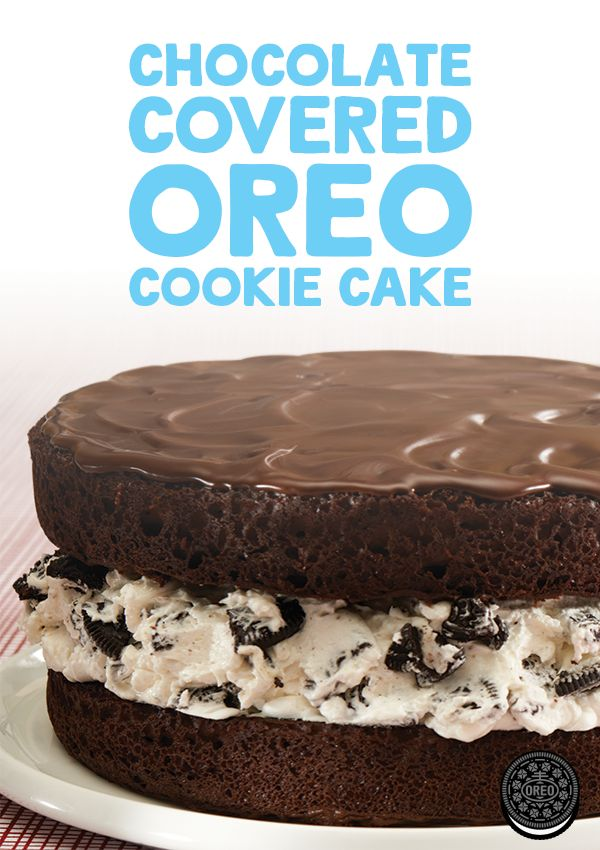 This Chocolate-Covered OREO Cookie Cake is a delicious dessert for any birthday or celebration.