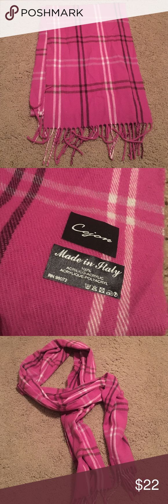 Purple scarf Purple burberry print scarf made in italy Accessories Scarves & Wraps