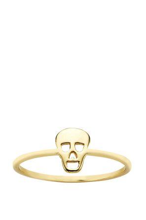 Karen Walker Jewellery for Women   Mini Skull Ring in Gold   Incu $169