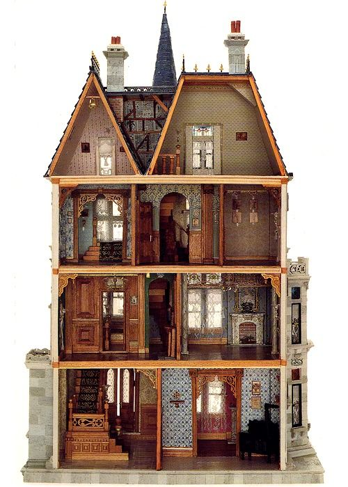 DollhouseMiniatures, Little Girls, Victorian Dolls, Dollshouse, Victorian Dollhouse, Kids, Things, Dolls House, Doll Houses