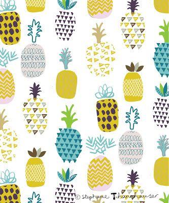 Pineapple aop, tropical fruit