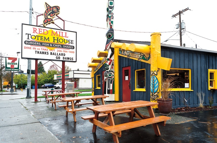 Red mill totem house best cheeseburgers across the for Fish and chips ballard