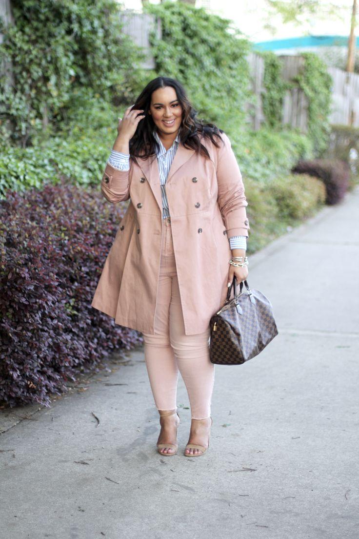 Blush Trench Coat | 3 Ways | Plus Size Outfit Ideas | Beauticurve | Blush outfit ideas