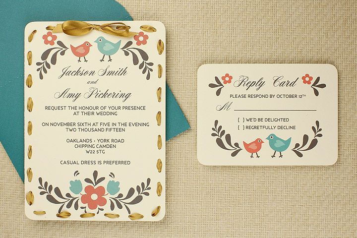 DIY Tutorial: FREE Printable Invitation and RSVP Card Template