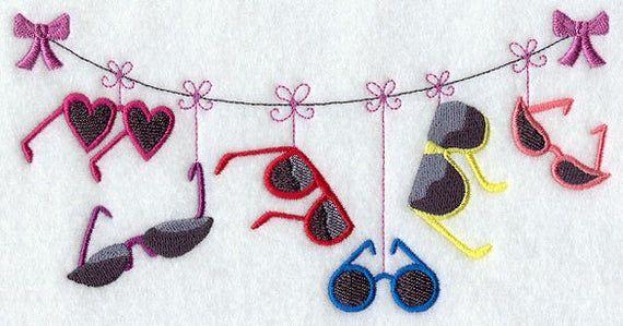 Fashion Heels Clothesline Embroidered Waffle Weave HandDish Towel