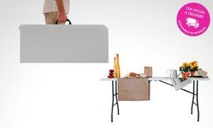 Groupon - Desde $ 1999 en vez de $2999 por mesa plegable de plástico tipo maletín con delivery o retiro. Pagá en cuotas sin interés en Múltiples sucursales. Precio de la oferta Groupon: $1.999