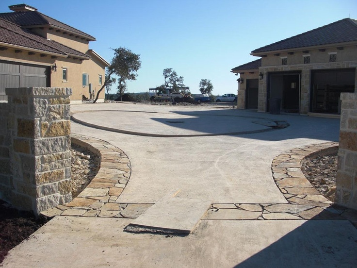 Pictures of driveway entrances driveway entrance pro 2 for Driveway addition ideas