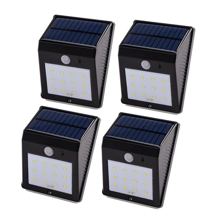 Qedertek Solar Motion Light, 12 LED Motion Sensor Light, Waterproof Outdoor Security Wall Lightfor Garden, Patio, Home, Fence, Driveway and Pathway, 4PCS