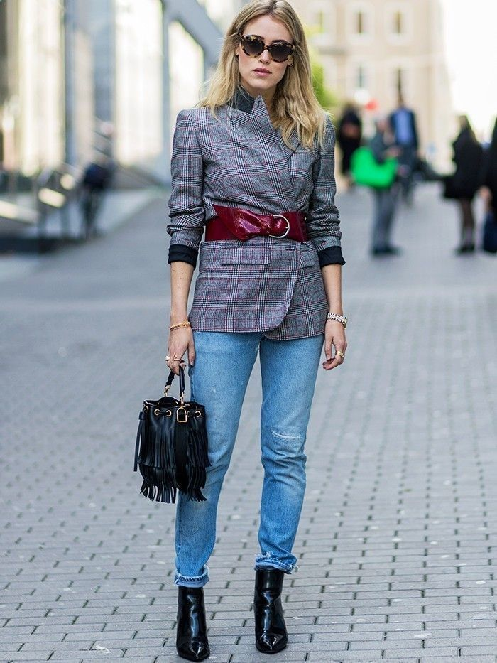 How To Wear Belts How to Overhaul Your Blazer (Because We All Get Bored With Them) via @WhoWhatWearUK - Discover how to make the belt the ideal complement to enhance your figure.