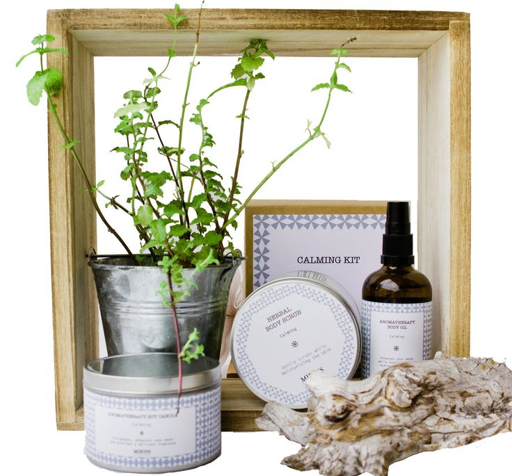Calming Kit - Our Calming aromatherapy line consists of a relaxing blend of Lavender and Bergamot essential oils.   The Calming Kit contains three items from the Calming Aromatherapy line.   Includes Calming Body Oil, Body Scrub & Candle.