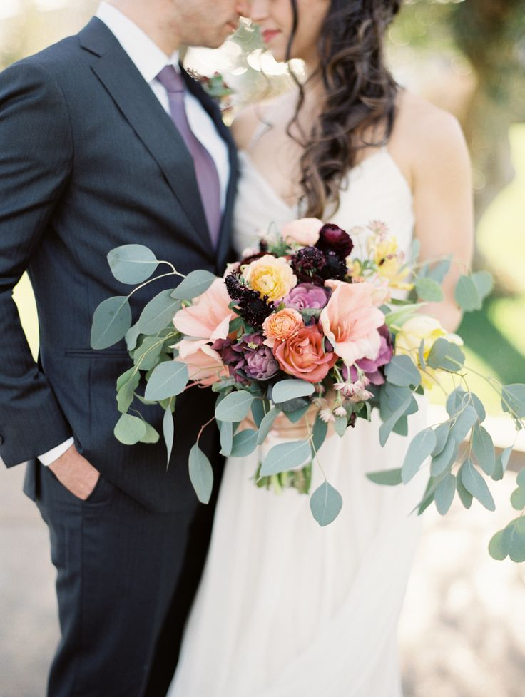 Colorful wedding bouquet: Colorful Phoenix Country Club Wedding