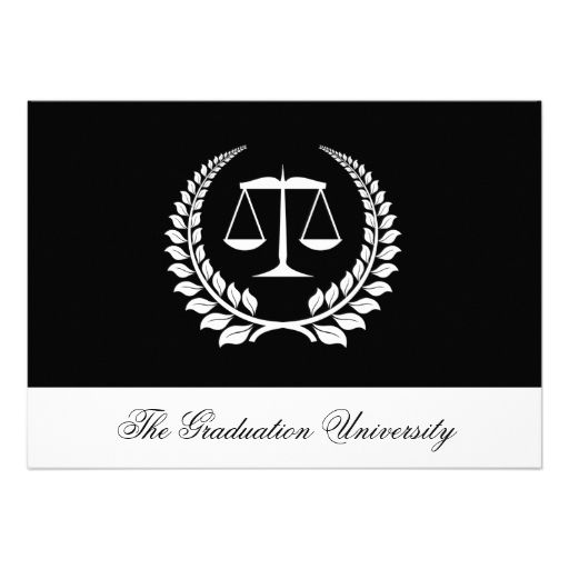 23 best law school graduation invitations images on pinterest law blackwhite laurel law school graduation personalized invitation filmwisefo Choice Image
